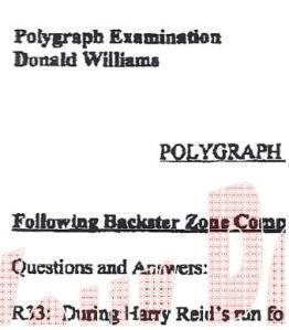 Harry Reid Don Williams polygraph